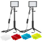 2x USB LED Light for Video Studio Live Photography Desktop Selfie Lamp Kit
