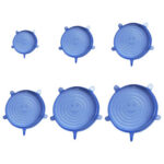 6pcs Reusable Silicone Fresh-keeping Cover Food Sealing Cap Stretch Lids