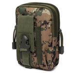 Waterproof Molle Modular Waist Bag Cycling Phone Case (Jungle Camouflage)