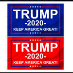 2x Keep America Great Banner USA President Election Donald Trump 2020 Flag