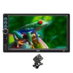 SWM-X6 Double DIN Car Stereo BT AUX Head Unit + AUX Cable + Rearview Camera