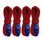4x 3mm Adjustable Wind Rope Reflective Outdoor Camping Tent String (Red)
