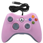 USB Wired Gamepad Computer Vibration Joystick for Xbox 360 Connector Pink