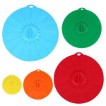5pcs Stretch Silicone Fresh Lid Food Preservation Cover Kitchen Seal Cover
