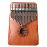 17 Keys Mahogany Wood Kalimba Musical Instrument Thumb Piano for Beginner