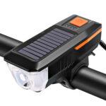 2 in 1 T6 LED MTB Bike Headlight + Horn 350LM 10W Bicycle Lights (Orange)
