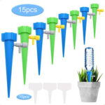15pcs Garden Potted Plant Plastic Spikes Automatic Drip Watering Device
