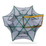 6 Sides 6 Holes Automatic Fishing Net NylonCrab Fish Trap ShrimpCage (C)
