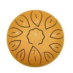6 inch 11 Tune Musical Instrument Steel Tongue Drum for Beginner (Gold)