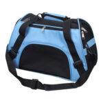 Portable Pet Travel Carrier Outdoor Dog Sling Mesh Shoulder Bags (Blue)