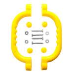 Kids Playground Nonslip Safety Grab Handles Mounting Hardware Kits (Yellow)
