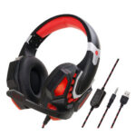 G10 3.5mm Wired Gaming Headphone Lighting Computer Headset for PS4 (Red)