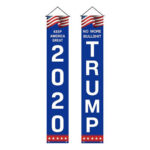 2020 U.S. General Election Trump Flag Couplet Presidential Campaign Banner