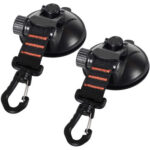 2pcs Suction Cup Anchor with Securing Hooks Camping Tarp as Car Side Awning