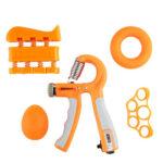 5pcs Heavy Gripper Set Hand Exerciser Grip Wrist Strength Training (Orange)