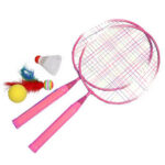 Playing Games Sports Shuttlecock Racquet Set Kids Badminton Racket (Pink)