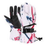 1Pair Winter Ski Gloves Waterproof Snowboard Ski Supplies (Red White L)