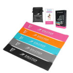 5pcs Natural Latex Resistance Bands for Home Fitness Loop Bands + Carry Bag