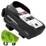 WHEEL UP 1.5L Bicycle Front Top Tube Touch Screen Phone Bag with Rain Cover