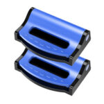 2pcs Adjustable Car Safety Seat Belt Holder Stopper Buckle Clip (Blue)