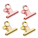 4pcs Round Metal Grip Clips Stationery Binder Clips for Hairdressing Wrap