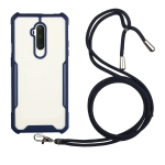 For OnePlus 7 Pro Acrylic + Color TPU Shockproof Case with Neck Lanyard(Dark Blue)