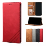 For Samsung Galaxy M11 GUSSIM GS-001 Business Style Horizontal Flip Skin Feel PU Leather Case with Holder & Card Slots & Wallet & Photo Frame(Red)