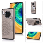 For Huawei Mate 30 Embossed Pattern PU + TPU Protective Case with Holder & Wallet & Card Slots(Grey)