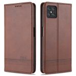 For Oppo A92s AZNS Magnetic Calf Texture Horizontal Flip Leather Case with Card Slots & Holder & Wallet(Dark Brown)