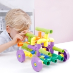 Children Educational Plastic Pipe Building Blocks Assembled Toy 72 PCS / Set
