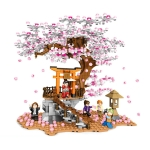 SEMBO 601076 Cherry Blossom Series Puzzle Assembled Toy Small Particle Building Blocks
