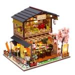 Creative DIY Assembled Model House Japanese Sushi Restaurant Birthday Gift