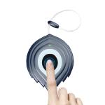 O20 USB Charging Heart-shaped Smart Fingerprint Padlock Cabinet Lock Dormitory Anti-theft Lock with Steel Lanyard (Blue)