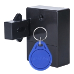 T3 ABS Magnetic Card Induction Lock Invisible Bilateral Open Cabinet Door Lock (Black)