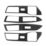 4 PCS Car Carbon Fiber Window Lift Button Decorative Sticker for Ford Explorer 2020