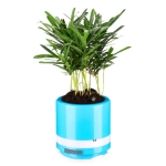 BL-003 USB Car Air Purifier Bluetooth Speaker Potted Purifier(Blue)