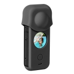 Full Body Dust-proof Silicone Protective Case for Insta360 ONE X2 (Black)