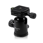 TRIOPO D-2A 360 Degree Rotation Aluminum Alloy Tripod 36mm Ball Head with Quick Release Plate