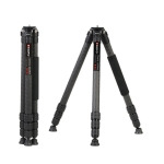 TRIOPO GS2808 Camcorder Photography No Axial Carbon Fiber Tripod Mount Holder with Ball Head, Load: 15KG
