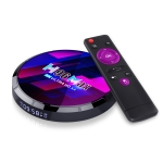 H96 Max 8K Smart TV Box with Remote Control, Android 10.0 Quad-core Amlogic S905X4, 2GB+16GB Built-in TikTok, Support DLNA / HDMI / USBx2 / 2.4G WIFI(AU Plug)