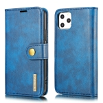 DG.MING Crazy Horse Texture Flip Detachable Magnetic Leather Case with Holder & Card Slots & Wallet For iPhone 11 Pro Max (Blue)
