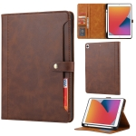 Calf Texture Double Fold Clasp Horizontal Flip Leather Case with Photo Frame & Holder & Card Slots & Wallet For iPad 10.2(Coffee)
