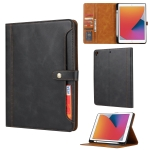 Calf Texture Double Fold Clasp Horizontal Flip Leather Case with Photo Frame & Holder & Card Slots & Wallet For iPad 9.7 (2018/2017) / Air 2(Black)