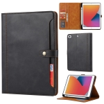 Calf Texture Double Fold Clasp Horizontal Flip Leather Case with Photo Frame & Holder & Card Slots & Wallet For iPad mini 5 / mini 4 / mini 3(Black)