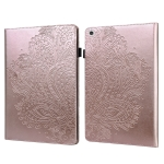 For Lenovo Tab M10 HD TB-605L X605F Peacock Embossed Pattern TPU + PU Horizontal Flip Leather Case with Holder & Card Slots & Wallet & Sleep / Wake-up Function(Rose Gold)