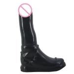 F29 Martin Boots Shape Dildo Adult Supplies Sex Products, Length: 24.2cm, Upper Diameter: 4.8cm, Lower Diameter: 5.5cm(Black)