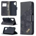 For Samsung Galaxy A32 Matching Color Crocodile Texture Horizontal Flip PU Leather Case with Wallet & Holder & Card Slots(Black)