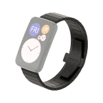 For Huawei Watch Fit Bamboo Joint Metal Replacement Strap Watchband(Black)