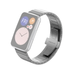 For Huawei Watch Fit Bamboo Joint Metal Replacement Strap Watchband(Titanium Grey)