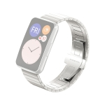 For Huawei Watch Fit Bamboo Joint Metal Replacement Strap Watchband(Silver)